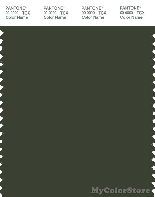 PANTONE SMART 19-0417X Color Swatch Card, Kombu Green