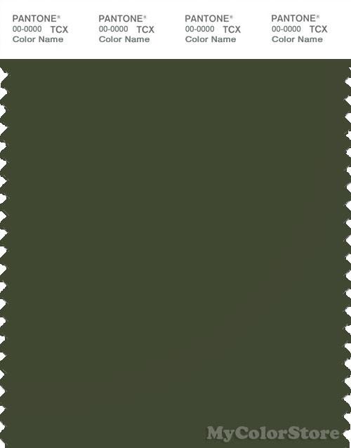 PANTONE SMART 19-0419X Color Swatch Card, Rifle Green