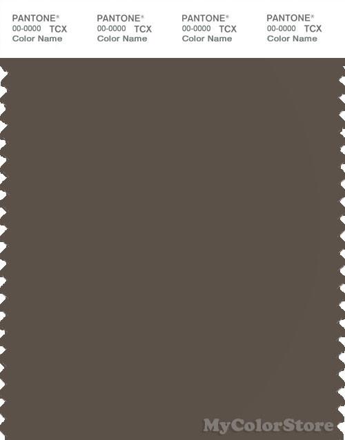 PANTONE SMART 19-0810X Color Swatch Card, Major Brown
