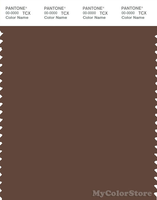 PANTONE SMART 19-1121X Color Swatch Card, Pinecone