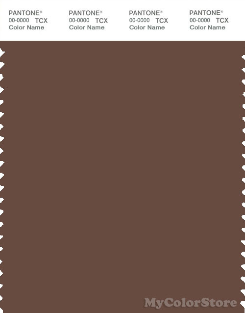 PANTONE SMART 19-1217X Color Swatch Card, Mustang