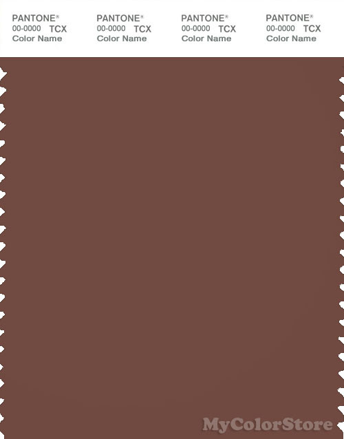 PANTONE SMART 19-1228X Color Swatch Card, Root Beer