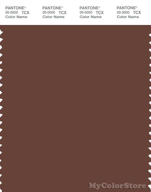 PANTONE SMART 19-1235X Color Swatch Card, Brunette