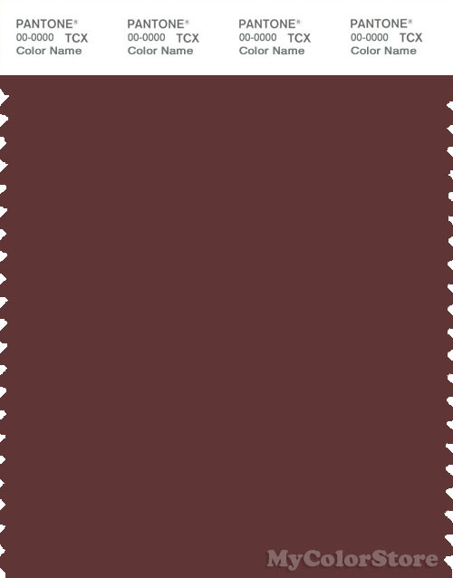 PANTONE SMART 19-1327X Color Swatch Card, Andorra