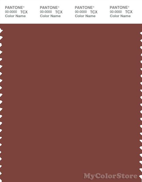 PANTONE SMART 19-1334X Color Swatch Card, Henna