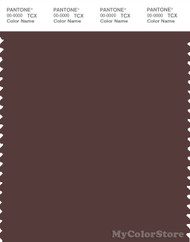 PANTONE SMART 19-1420X Color Swatch Card, Deep Mahogany