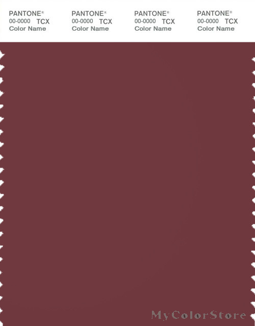 PANTONE SMART 19-1524X Color Swatch Card, Oxblood Red
