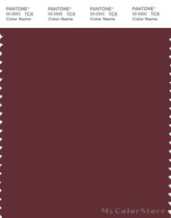 PANTONE SMART 19-1526X Color Swatch Card, Dark Red Brown
