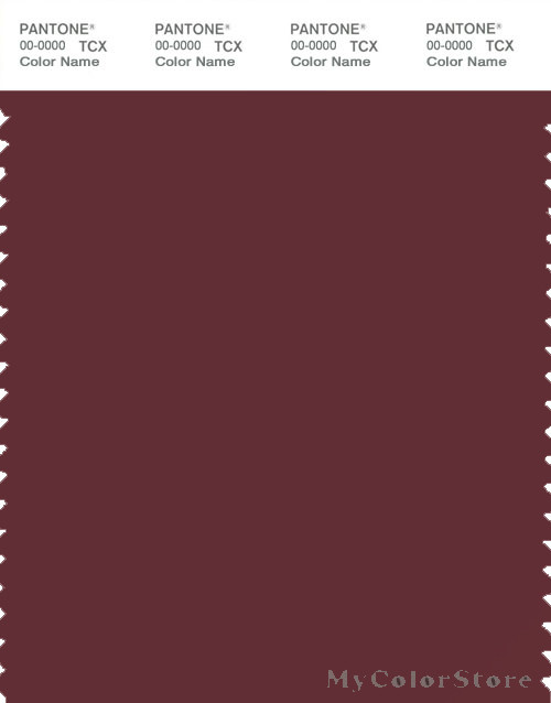 PANTONE SMART 19-1526X Color Swatch Card, Dark Red Brown