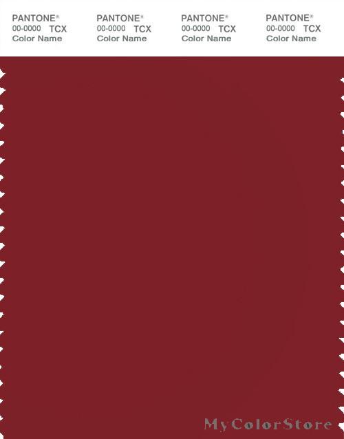 PANTONE SMART 19-1555X Color Swatch Card, Red Dahlia