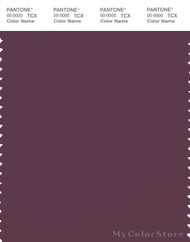 PANTONE SMART 19-1608X Color Swatch Card, Prune Purple