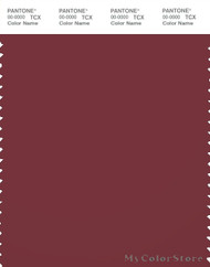 PANTONE SMART 19-1629X Color Swatch Card, Ruby Wine