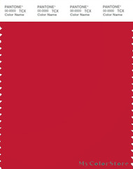 PANTONE SMART 19-1664X Color Swatch Card, True Red