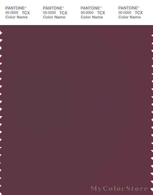 PANTONE SMART 19-1716X Color Swatch Card, Mauve Wine