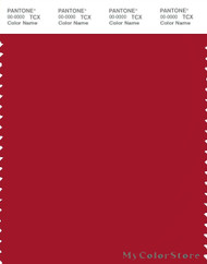 PANTONE SMART 19-1758X Color Swatch Card, Haute Red