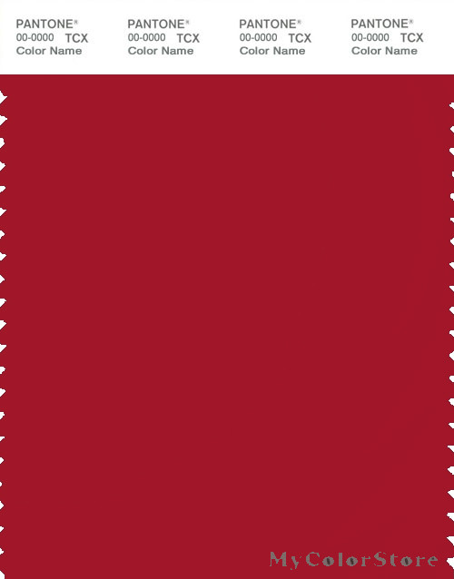 PANTONE SMART 19-1758X Color Swatch Card, Haute Red