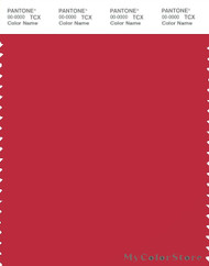 PANTONE SMART 19-1760X Color Swatch Card, Scarlet