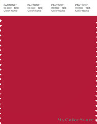PANTONE SMART 19-1764X Color Swatch Card, Lipstick Red
