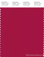 PANTONE SMART 19-1860X Color Swatch Card, Persian Red