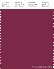 PANTONE SMART 19-2025X Color Swatch Card, Red Plum