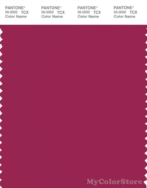 PANTONE SMART 19-2047X Color Swatch Card, Sangria