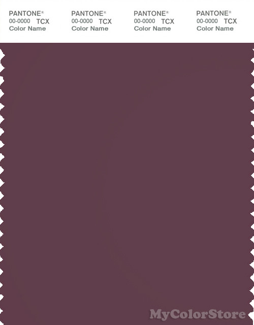 PANTONE SMART 19-2311X Color Swatch Card, Eggplant