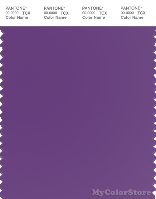 PANTONE SMART 19-3542X Color Swatch Card, Pansy