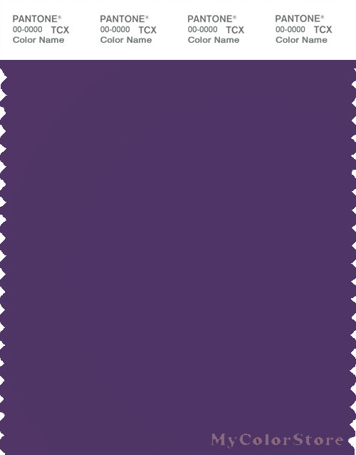 PANTONE SMART 19-3632X Color Swatch Card, Petunia