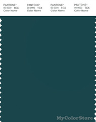 PANTONE SMART 19-4914X Color Swatch Card, Deep Teal