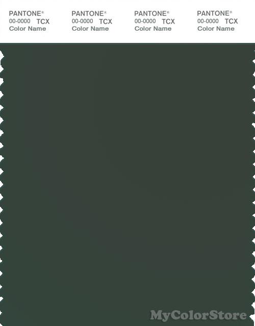 PANTONE SMART 19-6110X Color Swatch Card, Deep Forest