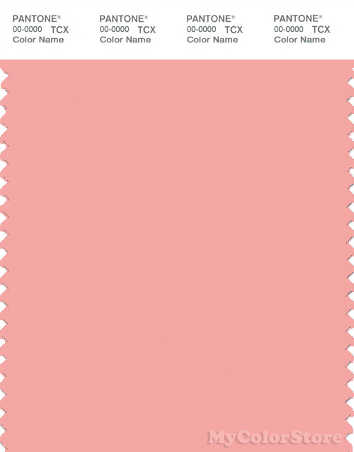 PANTONE SMART 14-1521X Color Swatch Card, Peaches N' Cream