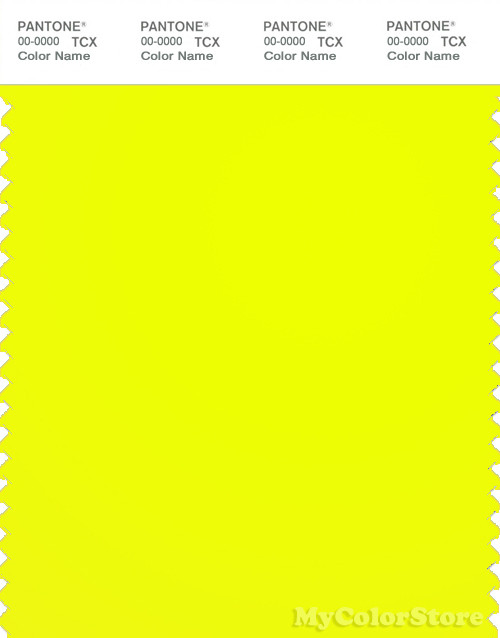PANTONE SMART 13-0630TN Color Swatch Card, Safety Yellow