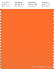 PANTONE SMART 15-1360TN Color Swatch Card, Shocking Orange