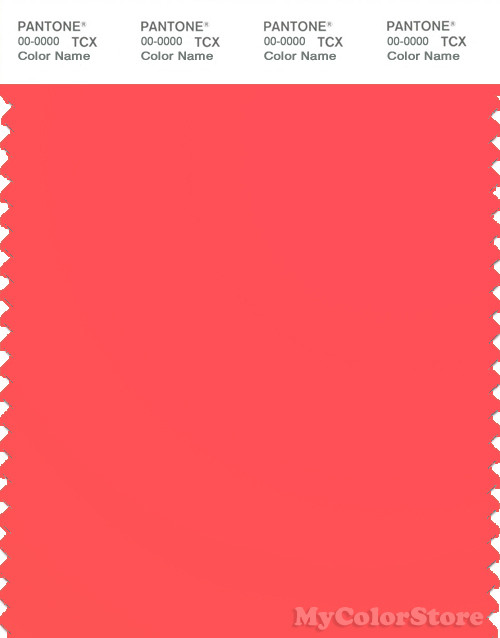 PANTONE SMART 15-1456TN Color Swatch Card, Fiery Coral