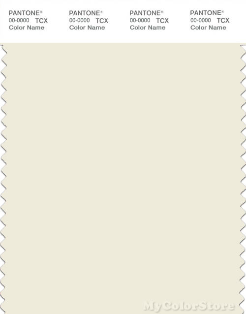 PANTONE SMART 11-0104X Color Swatch Card, Vanilla Ice