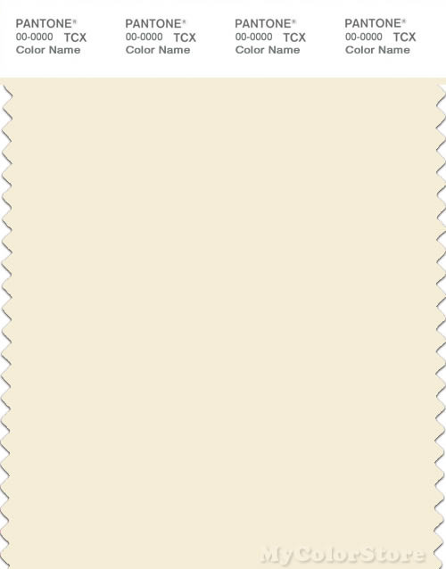 PANTONE SMART 11-0107X Color Swatch Card, Papyrus