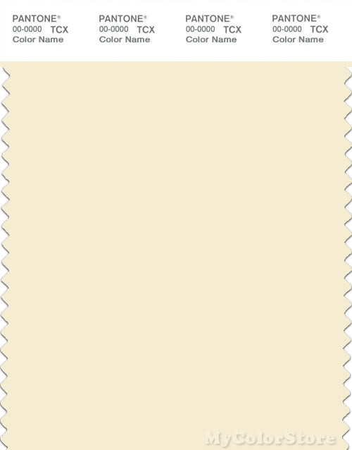 PANTONE SMART 11-0507X Color Swatch Card, Winter White
