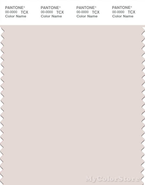 PANTONE SMART 11-0603X Color Swatch Card, Pastel Parchment