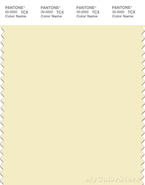 PANTONE SMART 11-0617X Color Swatch Card, Transparent Yellow