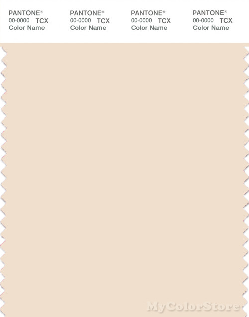 PANTONE SMART 11-0907X Color Swatch Card, Pearled Ivory