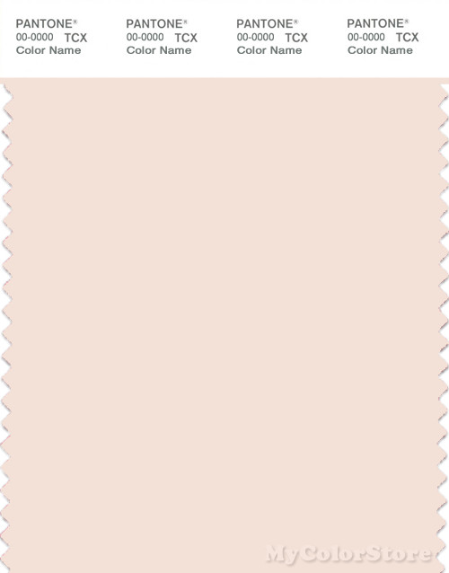 PANTONE SMART 11-1404X Color Swatch Card, Powder Puff