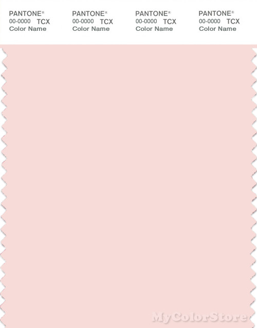 PANTONE SMART 11-1408X Color Swatch Card, Rosewater