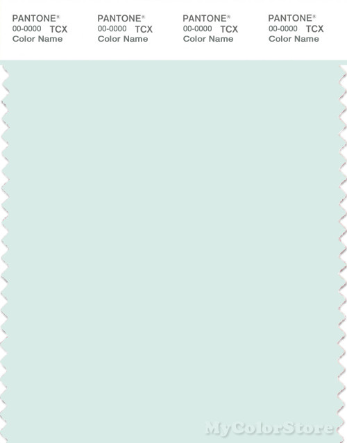 PANTONE SMART 11-4805X Color Swatch Card, Hint Of Mint
