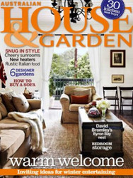 House & Garden Magazine  (Australia) - 12 iss/yr (To US Only) Via Air