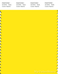 PANTONE SMART 12-0643X Color Swatch Card, Blazing Yellow