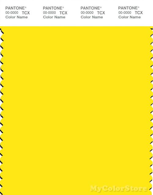 PANTONE SMART 12-0643X Color Swatch Card, Blazing Yellow