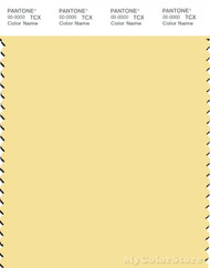 PANTONE SMART 12-0711X Color Swatch Card, Lemon Meringue