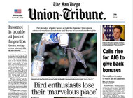 San Diego Union Tribune  (US) - 365 iss/yr (To US Only)