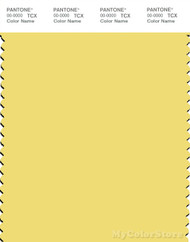 PANTONE SMART 12-0738X Color Swatch Card, Yellow Cream