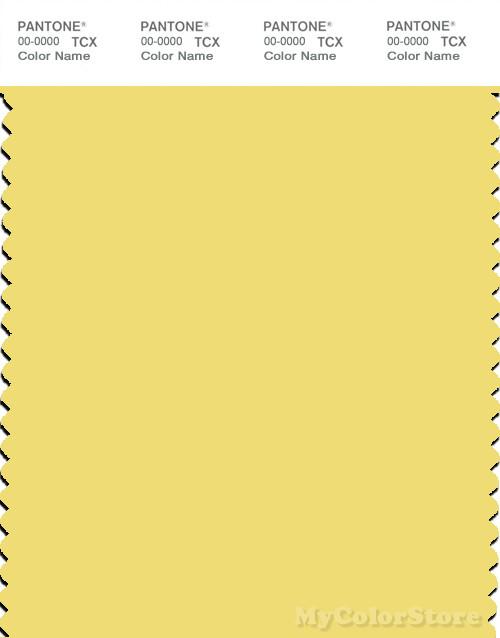PANTONE SMART 12-0738X Color Swatch Card, Yellow Cream
